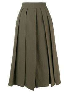 Aspesi pleated midi skirt - Green