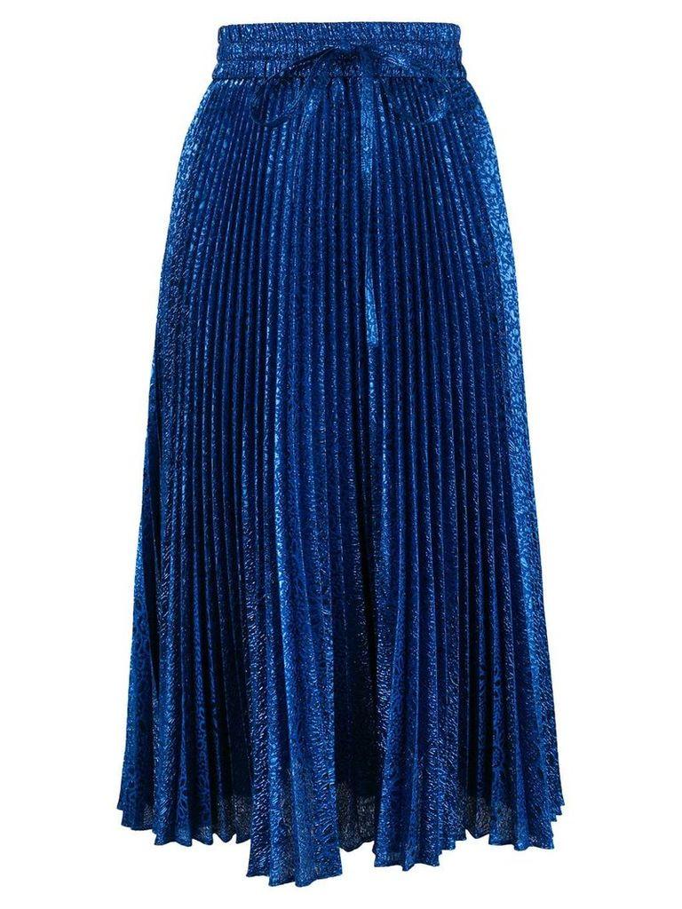 Red Valentino pleated lurex skirt - Blue