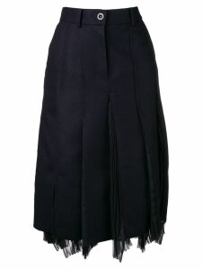 Sacai panelled skirt - Black