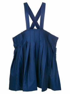 Comme Des Garçons Comme Des Garçons polka dot pleated skirt - Blue