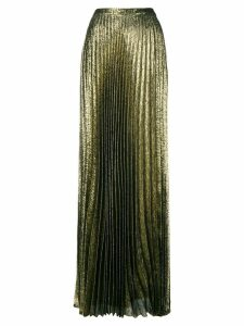 Saint Laurent long pleated skirt - Metallic