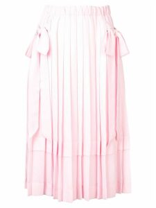 Simone Rocha pleated midi skirt - Pink