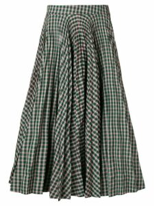 Calvin Klein 205W39nyc tartan full skirt - Green