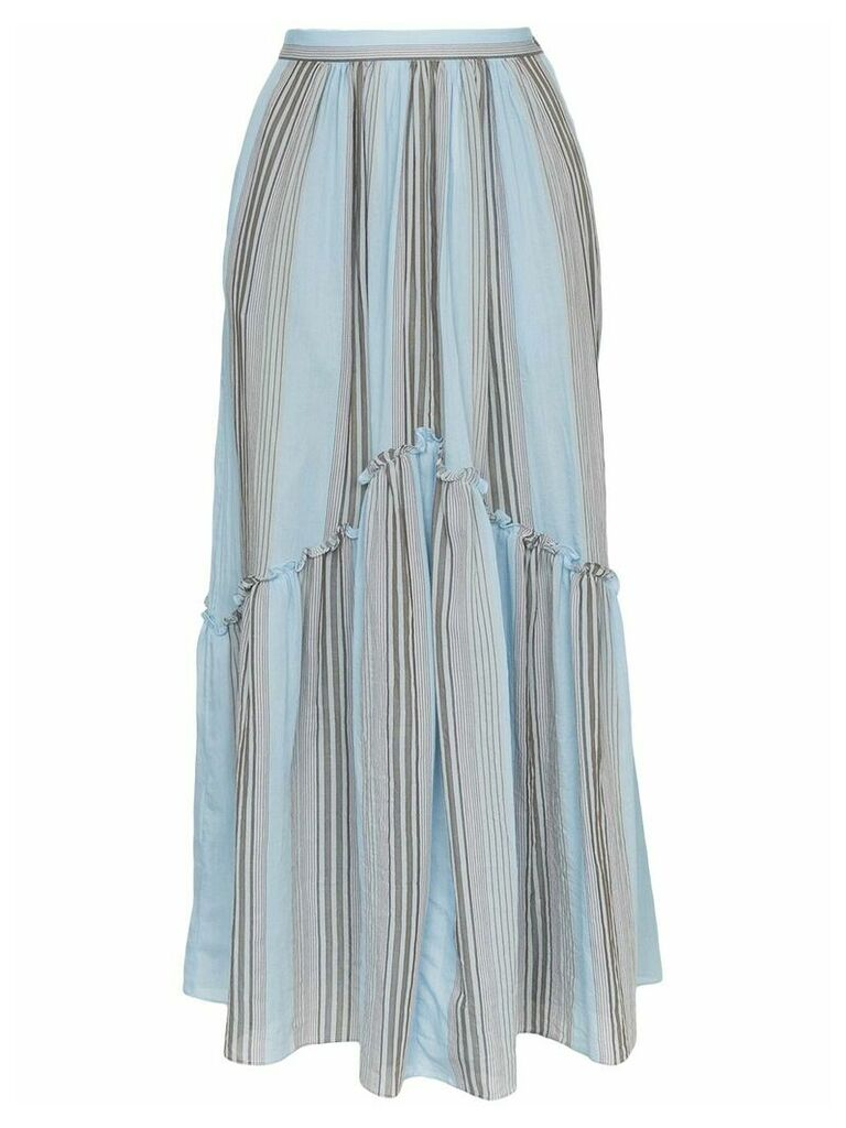 Three Graces lelia marari stripe skirt - Blue