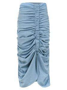 Framed midi pleated skirt - Blue