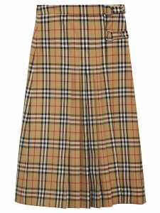 Burberry Vintage Check Wool Kilt - Yellow