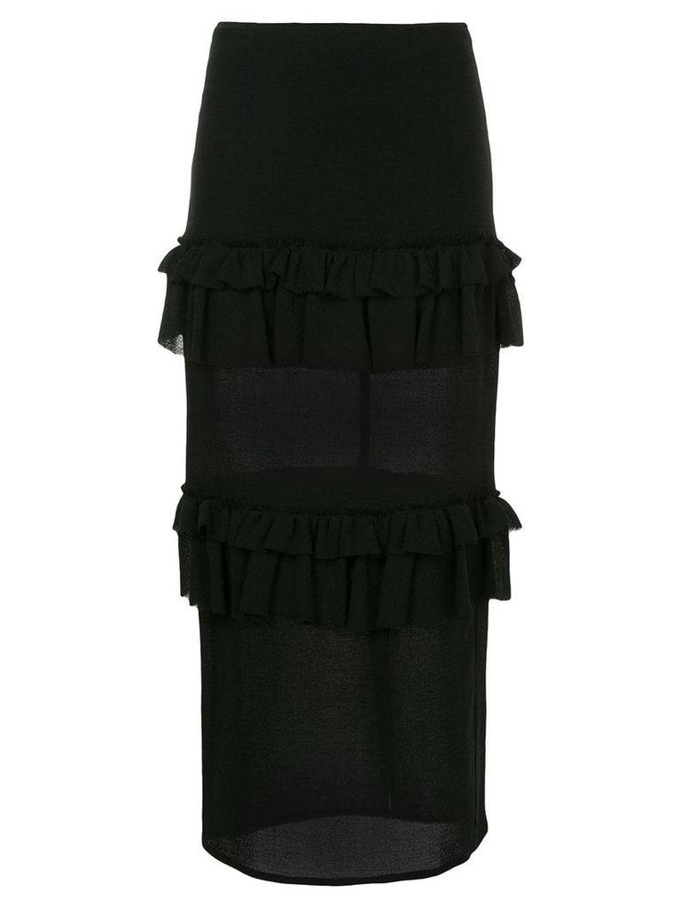 Georgia Alice Goldie ruffle skirt - Black