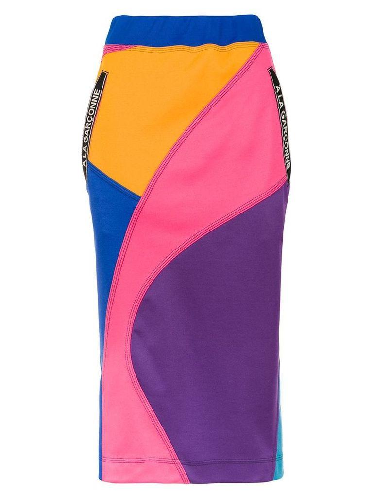 À La Garçonne panelled midi skirt - Purple