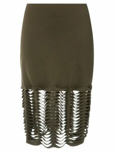 Gloria Coelho cut out skirt - Green