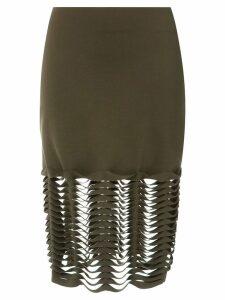 Gloria Coelho cut out skirt - Green