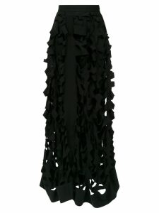 Gloria Coelho cut out pattern skirt - Black