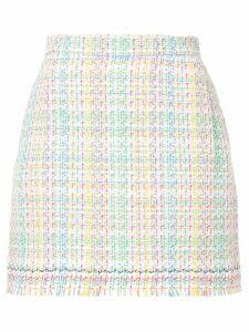 Thom Browne tweed checked skirt - White