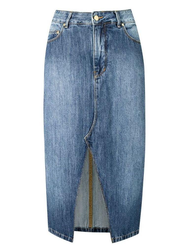 Amapô straight jeans skirt - Blue