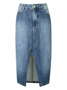 Amapô straight jeans skirt - Blue