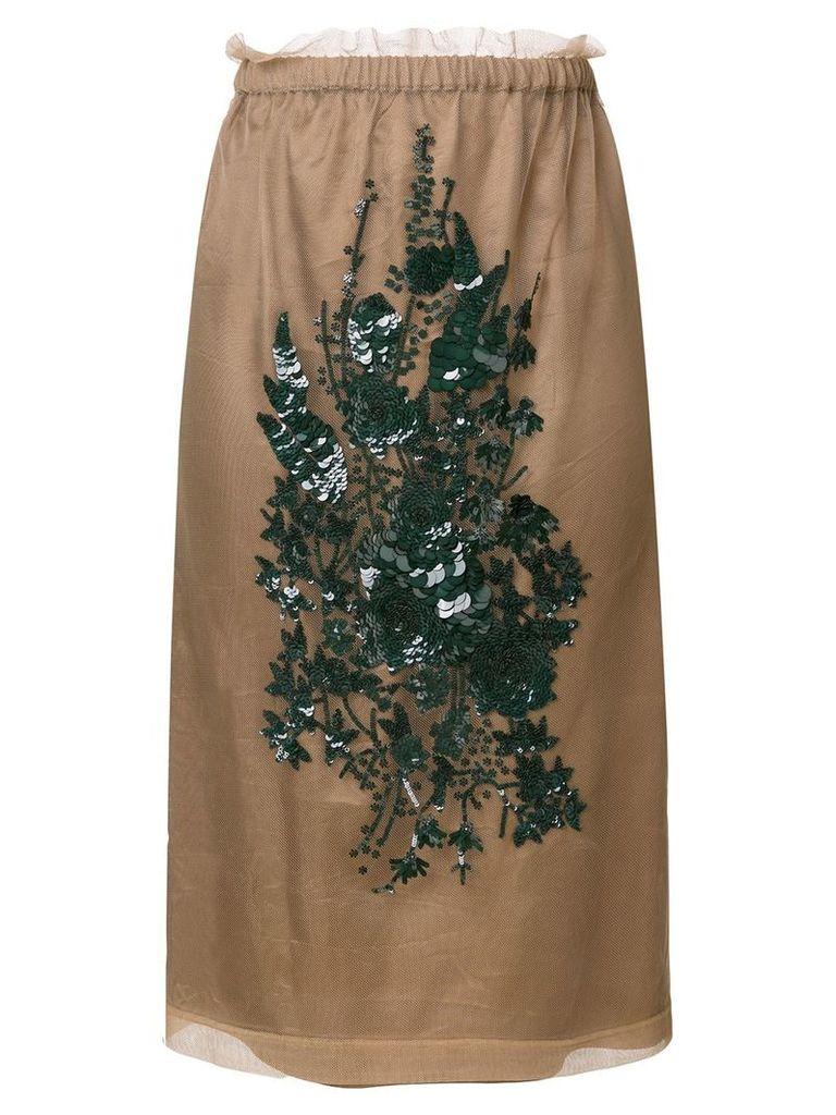 Nº21 embroidered skirt - Neutrals