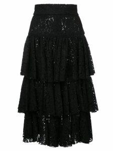 Bambah layered midi skirt - Black