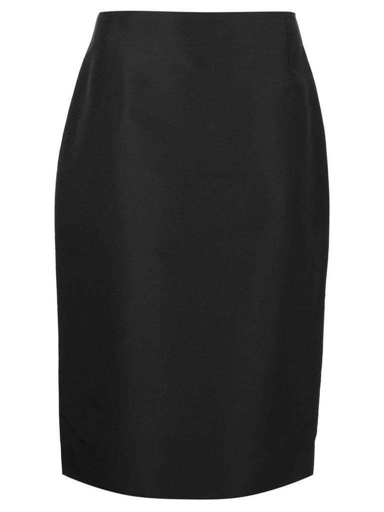 Carolina Herrera midi straight skirt - Black