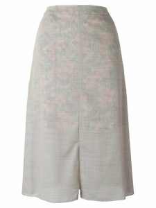 Julien David slit skirt - Grey