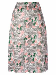 Julien David floral printed midi skirt - Multicolour
