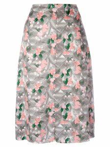 Julien David floral printed midi skirt - Multicolour