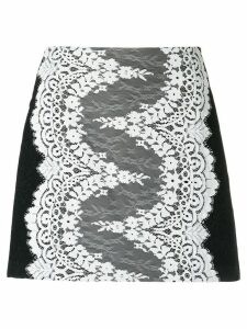 Olympiah lace panelled skirt - Black