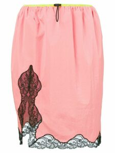 Alexander Wang lace trim skirt - PINK