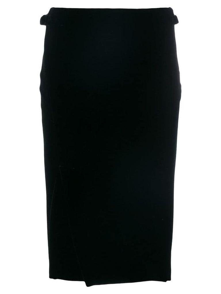 Tom Ford velvet wrap skirt - Black