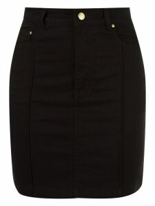 Amapô high waist fitted denim skirt - Black