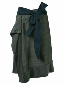 A.F.Vandevorst striped skirt - Green