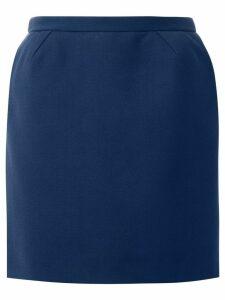 Delpozo straight mini skirt - Blue