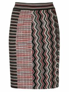 Missoni zig zag knitted skirt - Black