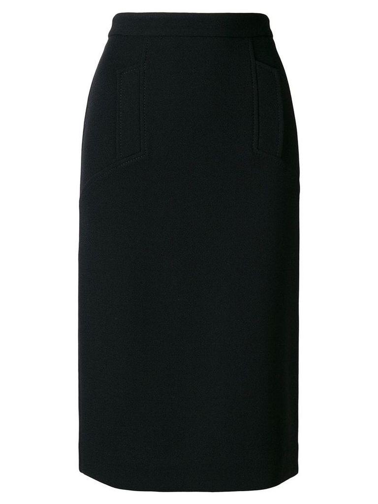 P.A.R.O.S.H. straight-fit midi skirt - Black