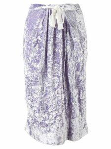 Victoria Beckham folded straight skirt - Pink