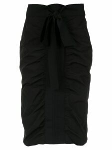 Gloria Coelho draped straight skirt - Black