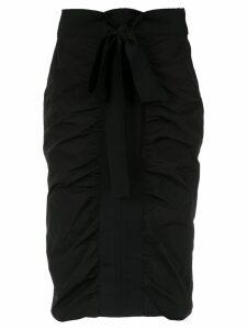 Gloria Coelho draped straight skirt - Black