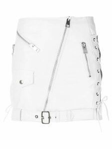 Manokhi off-center zip fastening skirt - White