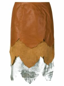 JW Anderson layered skirt - Brown