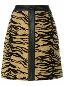 Adam Lippes tiger print skirt - Brown