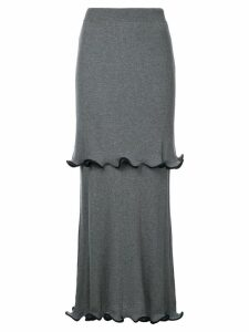 Stella McCartney ruffled midi skirt - Grey