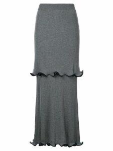 Stella McCartney ruffled midi skirt - Grey