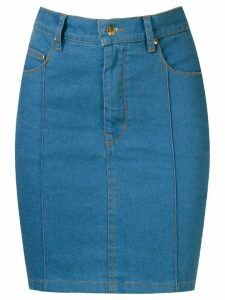 Amapô high waist denim skirt - Blue