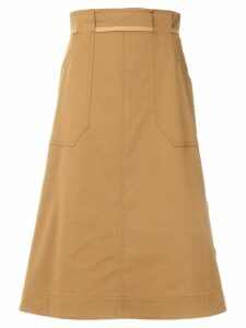 Mantu side button skirt - Neutrals
