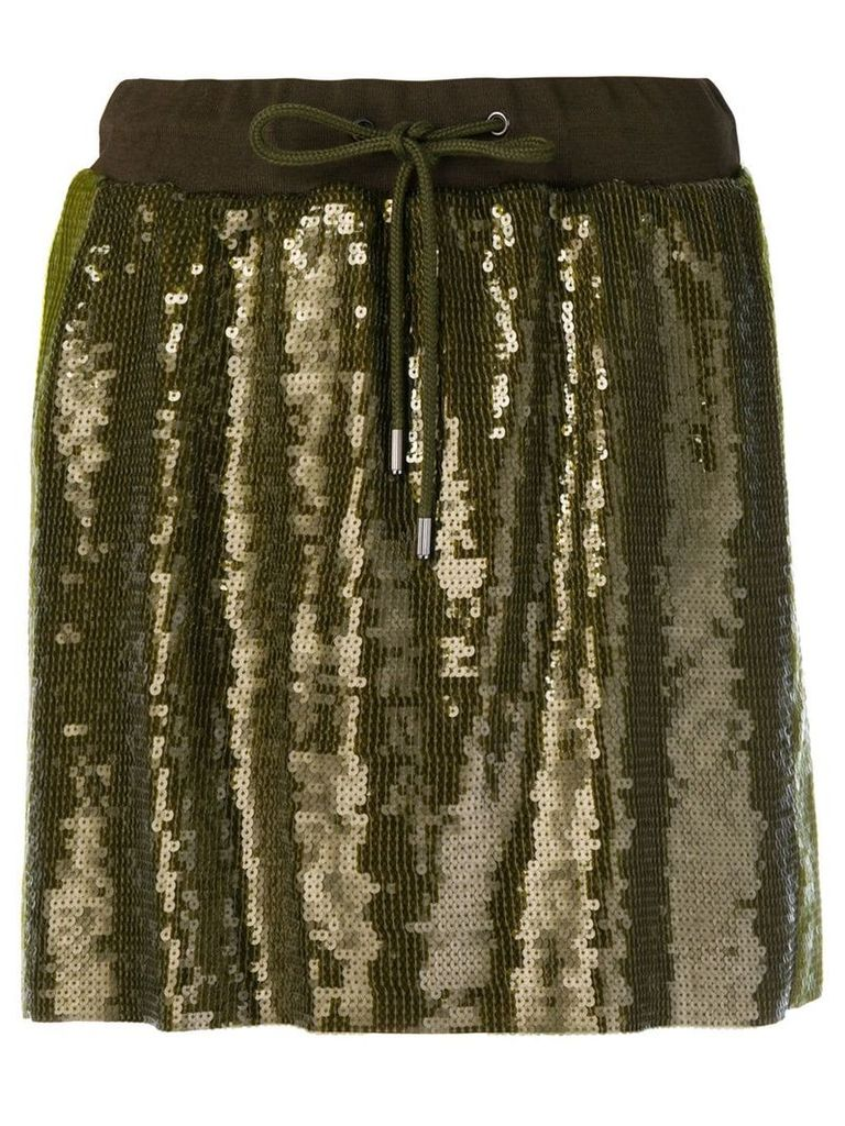 Alberta Ferretti sequins embellished short skirt - Green