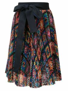 Sacai ribbon-tie skirt - Multicolour