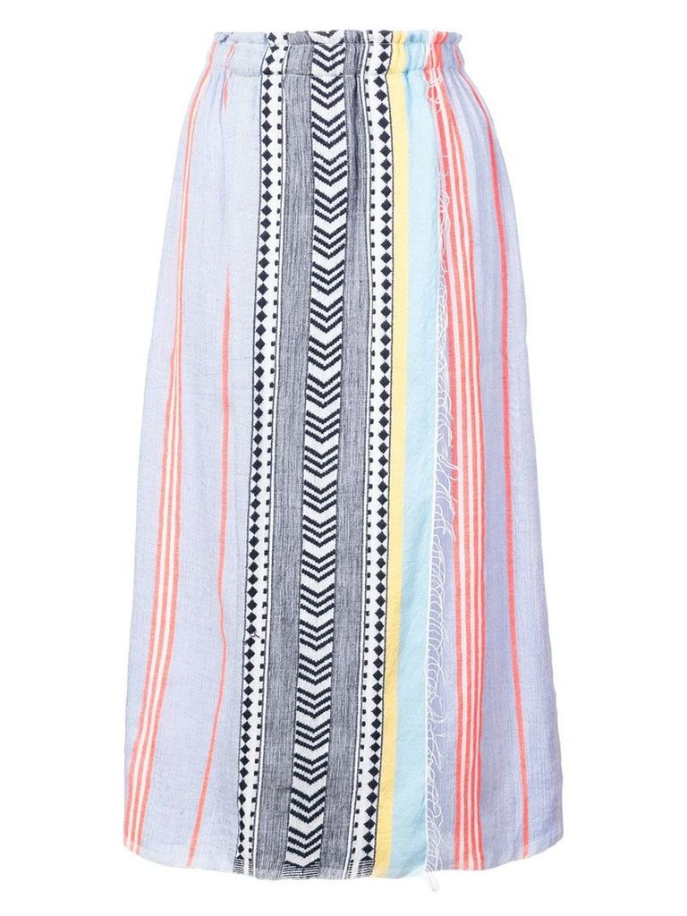 Lemlem Sofia wrap skirt - Blue