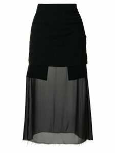 Each X Other sheer panel fitted skirt - Black