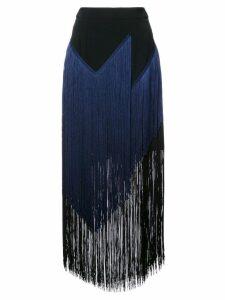 Stella McCartney mid-length tasselled skirt - Blue
