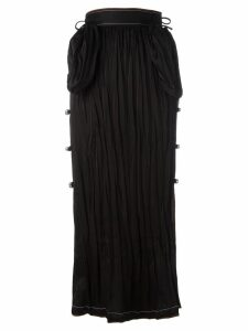 Loewe long bell embellished skirt - Black