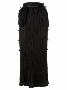 Loewe long bell embellished skirt - Black