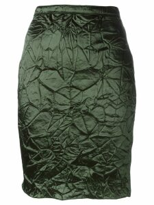 Nina Ricci crease effect skirt - Green
